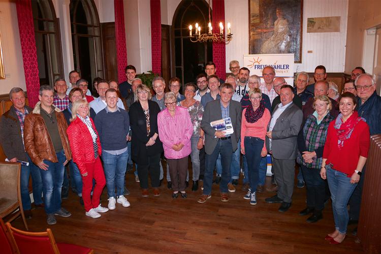 Sehr gut besuchte Mitgliederversammlung der freien Wähler im Maerz 2019