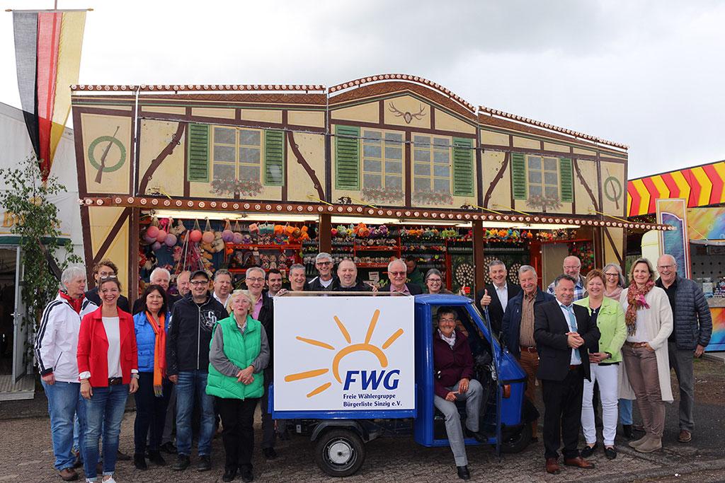 Die Freien Wähler Sinzig trafen sich auf der St. Georg Kirmes in Löhndorf