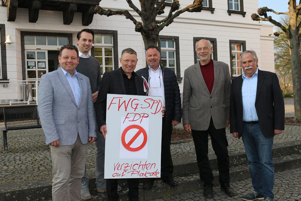 Die Freien Wähler, SPD und FDP verzichten auf Plakatierung zur Kommunalwahl in Sinzig