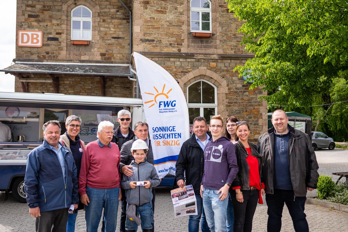 FWG im Dialog auf dem Freitagsmarkt in Bad Bodendorf