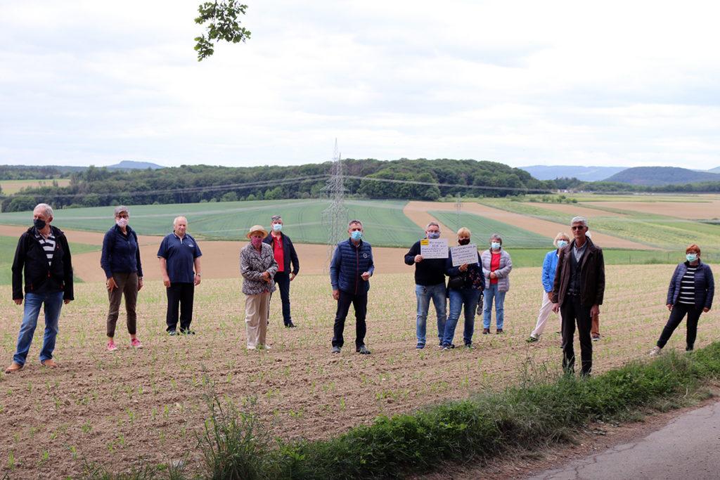 Freie Wähler Sinzig unterstützten in Franken bei der bundesweiten Protestaktion gegen die Planung von Ultranet