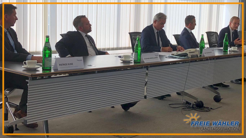 Pressekonferenz der Freie WÄHLER Landtagsfraktion zur Hochwasserkatastrophe